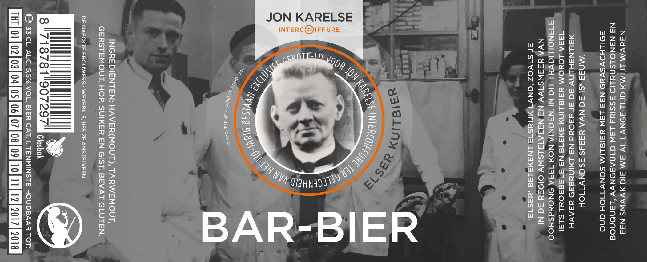 jonkarelse barbier etiket elser